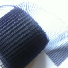 15cm Side Pleated Navy Milliner's Crinoline Hat Trim